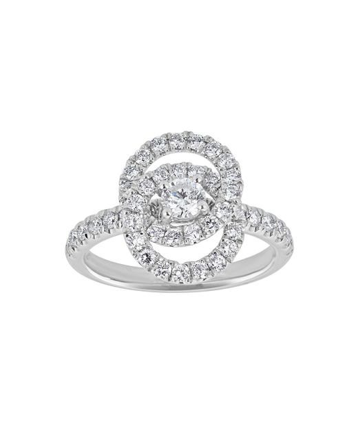 Saks Fifth Avenue - Diamond And 18k White Gold Love Knot Ring - Lyst