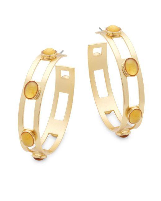 Stephanie Kantis - Metallic Monaco Citrine Hoop Earrings - Lyst