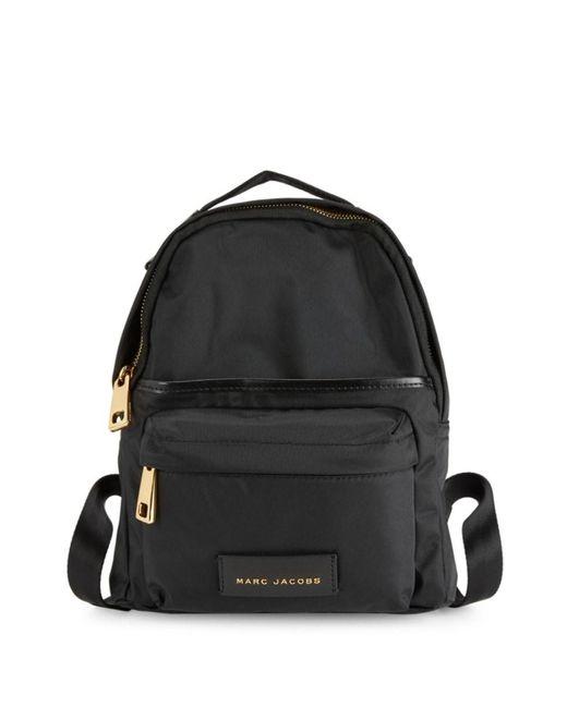 Marc Jacobs Black Goldtone Zip Backpack