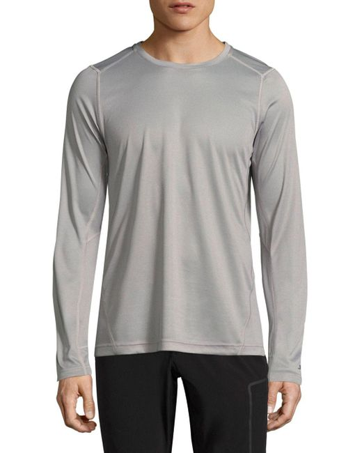 J.Lindeberg - Gray Active Long Sleeve Tee for Men - Lyst