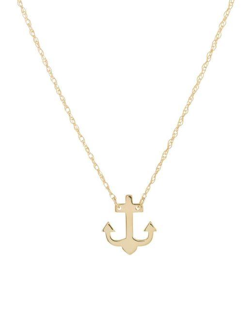 Saks Fifth Avenue Metallic Women's So You 14k Yellow Gold Anchor Pendant Necklace