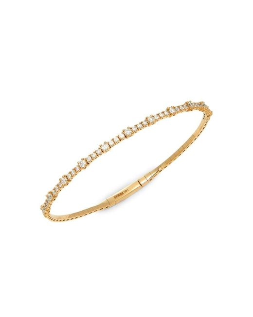 Effy Metallic Women's 14k Yellow Gold & Diamond Bangle Bracelet