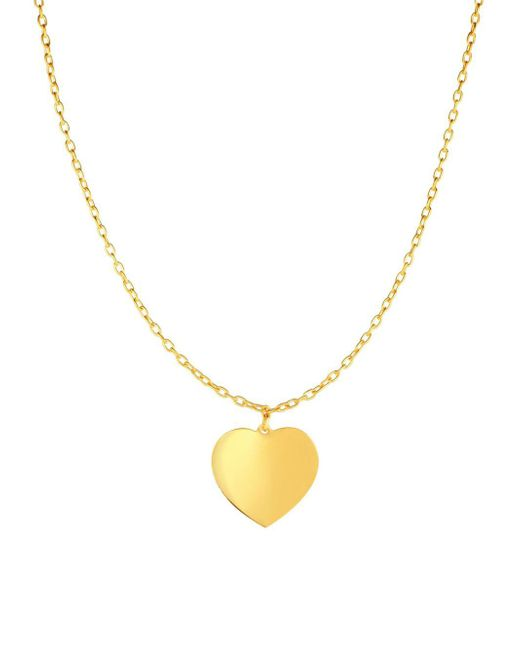 Saks Fifth Avenue - Metallic 14k Yellow Gold Heart Chain Necklace - Lyst