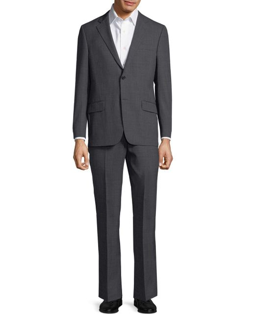 Hickey Freeman - Gray Regular-fit Pinstripe Worsted Wool Suit for Men - Lyst