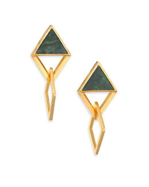 Stephanie Kantis | Multicolor Element Green Moss Agate Drop Earrings | Lyst