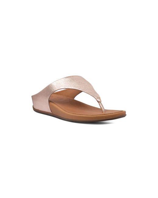 Fitflop Women's Banda Metallic Leather Thong Sandals