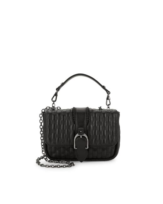 Longchamp Black Quilted Leather Crossbody Bag