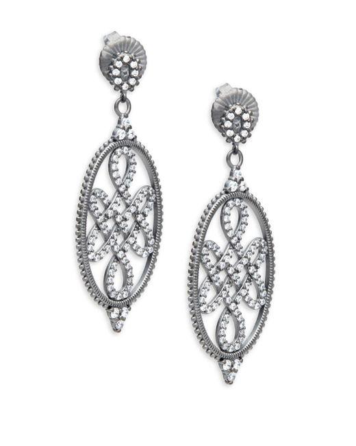 Freida Rothman - Metallic Signet Love Knot Sterling Silver Earrings - Lyst