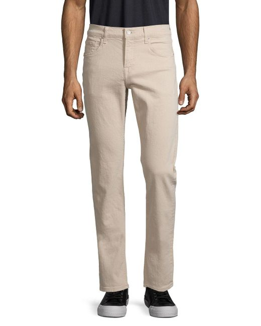 7 For All Mankind Natural Slimmy Straight-leg Jeans for men