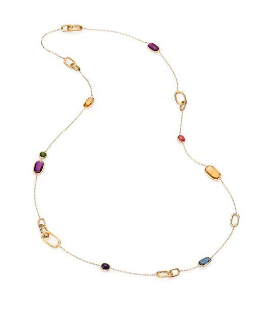 Marco Bicego - Metallic Murano Semi-precious Multi-stone & 18k Yellow Gold Station Necklace - Lyst