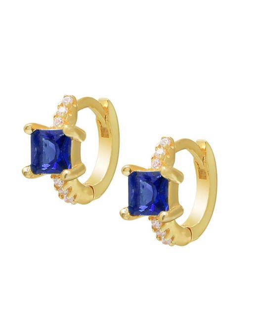 Gabi Rielle Metallic Women's 14k Gold Vermeil & Cubic Zirconia Huggie Earrings