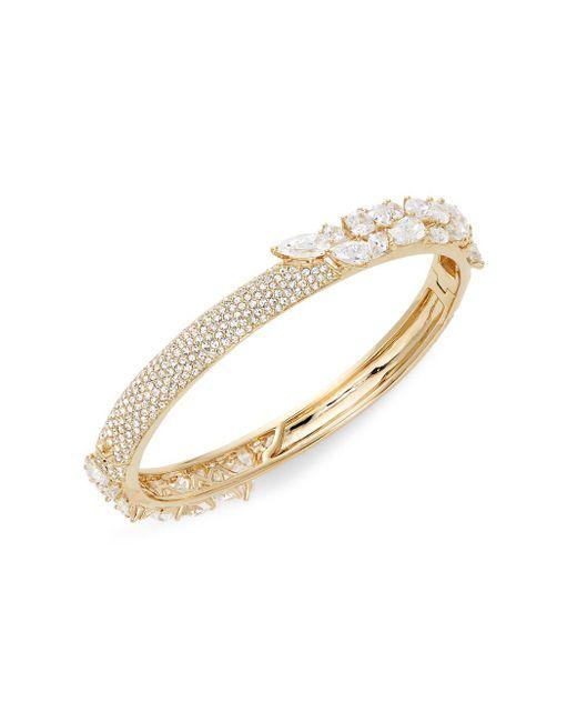 Adriana Orsini - Metallic Roma 18k Goldplated Crystal Hinge Bangle Bracelet - Lyst