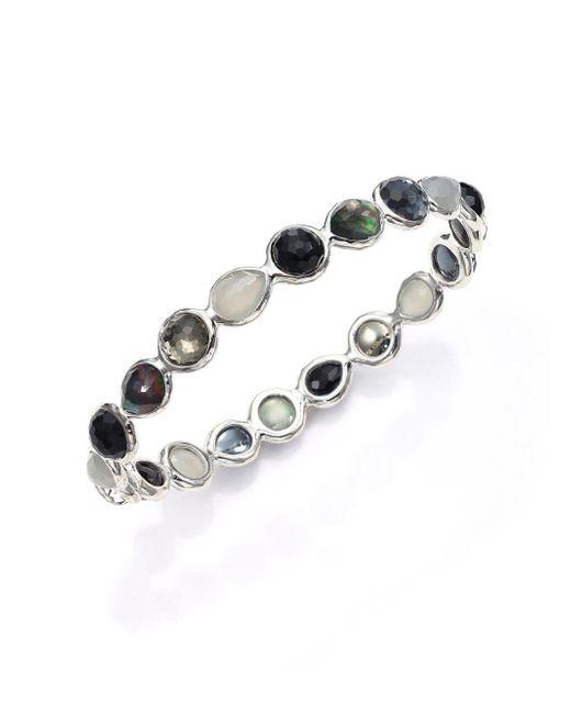 Ippolita - Rock Candy Black Tie Semi-precious Multi-stone & Sterling Silver All-around Bangle Bracelet - Lyst
