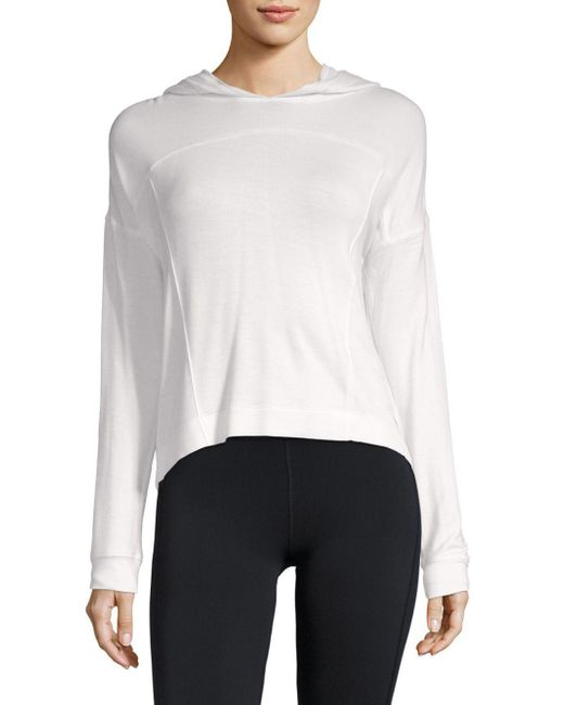 Marc New York - White Cropped Hoodie - Lyst
