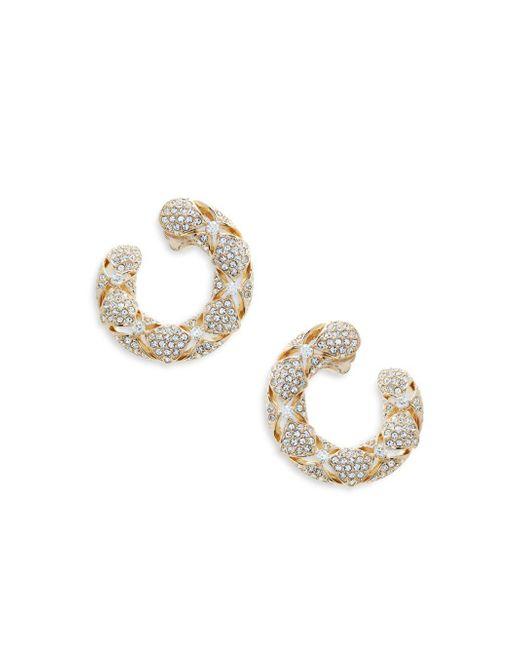 Adriana Orsini - Metallic Naga Goldtone Crystal Hoop Earrings - Lyst