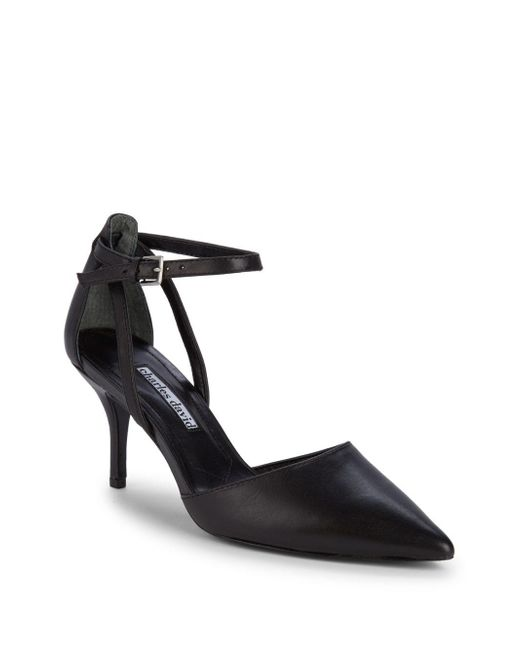 Charles David - Black Aria Point Toe Leather Pumps - Lyst