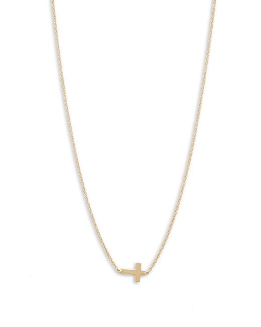 Saks Fifth Avenue - Metallic Yellow Gold Cross Chain Necklace - Lyst