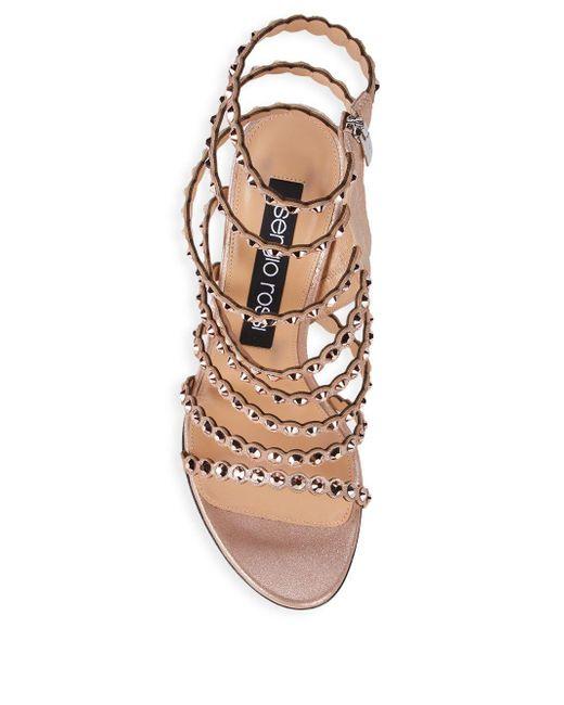 9dd0933248af ... Sergio Rossi - Multicolor Kimberly Crystal Gladiator Sandals - Lyst ...
