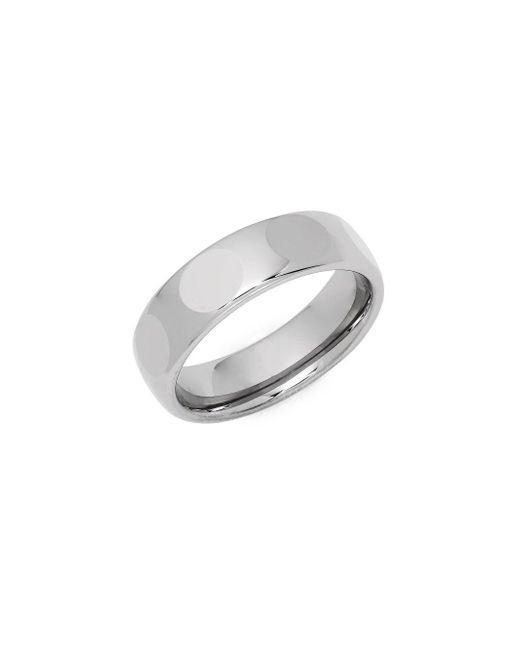 Perepaix - Metallic Faceted Metal Ring - Lyst