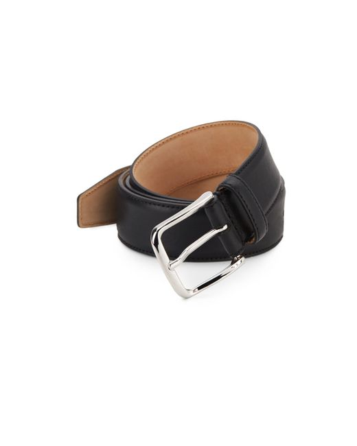 Saks Fifth Avenue Metallic Leather Belt for men