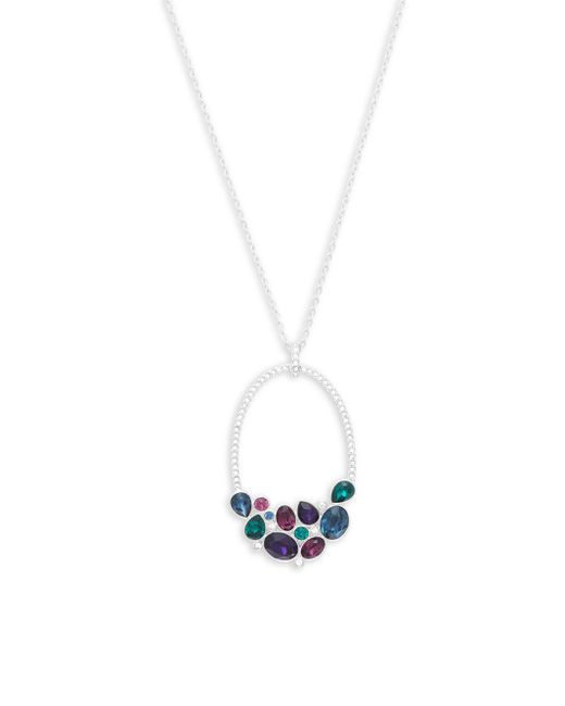 Swarovski - Metallic Open Oval Crystal Pendant Necklace - Lyst