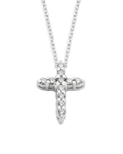 KC Designs - Metallic 14k White Gold & Diamond Cross Pendant Necklace - Lyst