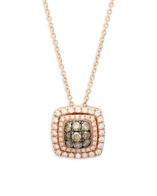 Le Vian - Metallic Chocolatier 14k Strawberry Gold Pendant Necklace - Lyst