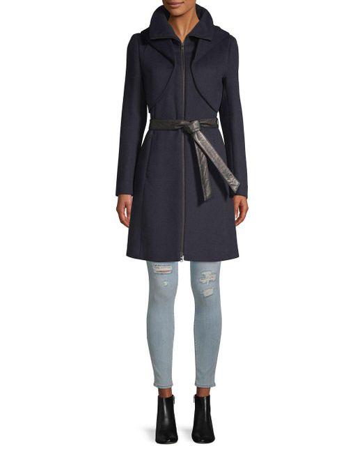 SOIA & KYO - Black Arya Hooded Coat - Lyst