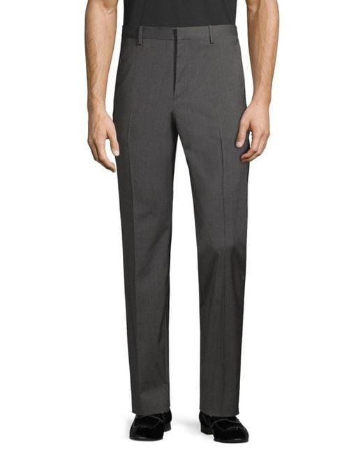 Theory Gray Men's Wool-blend Pants - Medium Grey - Size 40 for men