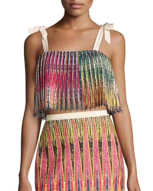 Saloni - Multicolor Jemi Pleated Top - Lyst
