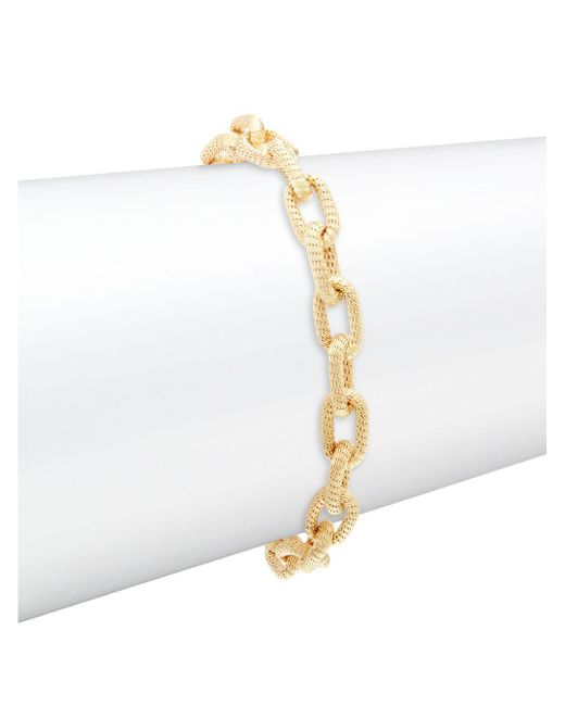Saks Fifth Avenue - Metallic Made In Italy 14k Yellow Gold Link Chain Bracelet - Lyst