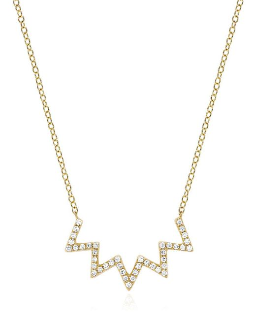 EF Collection | Metallic Electric Zig Zag Diamond Necklace | Lyst