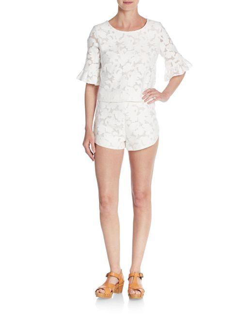 Rebecca Minkoff | White Cher Fil Coupe Shorts | Lyst