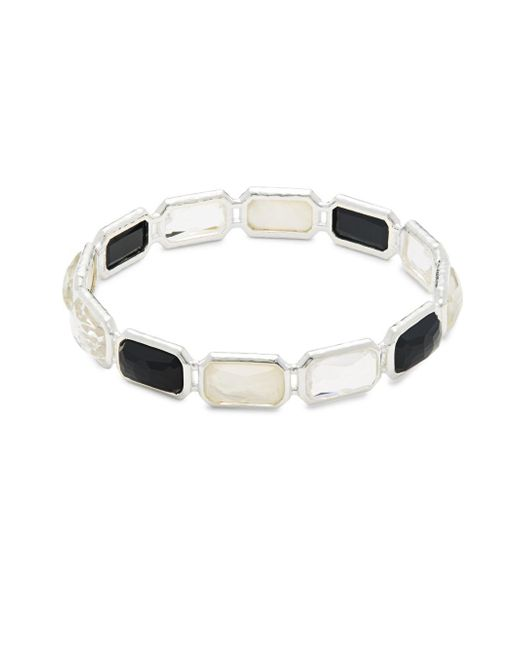 Ippolita - Metallic Rock Candy Onyx, Clear Quartz, Mother-of-pearl & Sterling Silver Bangle - Lyst