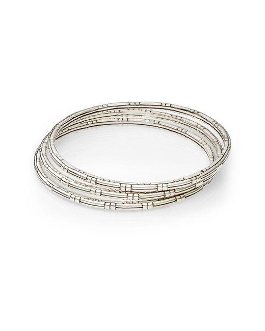 John Hardy - Metallic Bedeg Sterling Silver Slim Bracelet Set - Lyst