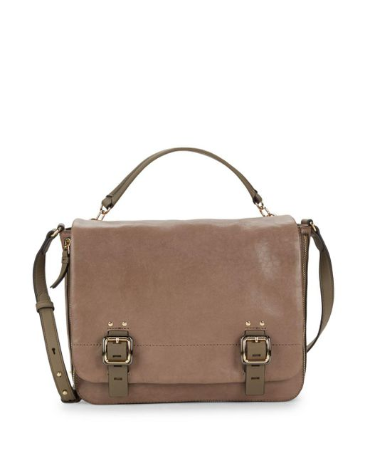Vince Camuto - Brown Flap Front Leather Satchel - Lyst
