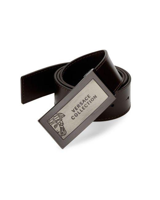 Versace Brown Hardware Leather Belt for men