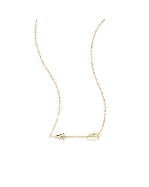 Saks Fifth Avenue Metallic 14k Yellow Gold Arrow Pendant Necklace