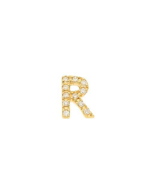 Nephora Metallic Women's 14k Yellow Gold & 0.04 Tcw Diamond Initial R Single Stud Earring