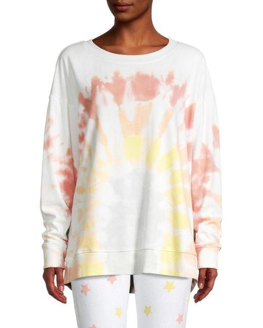 Wildfox Multicolor Women's Tie-dyed Cotton Sweatshirt - Rainbow Tie Dye - Size S