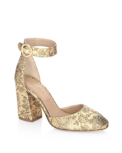 Michael Kors - Metallic Rena Ankle Strap Sandals - Lyst