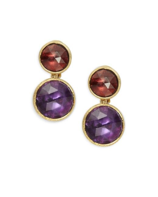 Marco Bicego - Metallic Jaipur Garnet, Amethyst & 18k Gold Earrings - Lyst