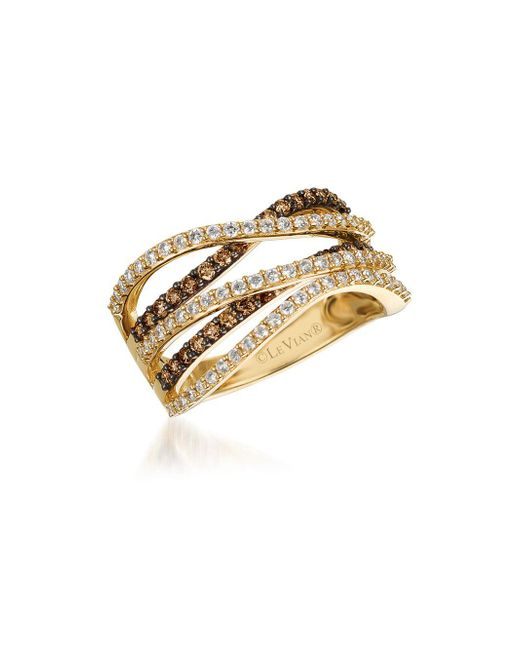 Le Vian - Metallic Chocolatier Vanilla Diamonds, Chocolate Diamonds & 14k Honey Gold Ring - Lyst