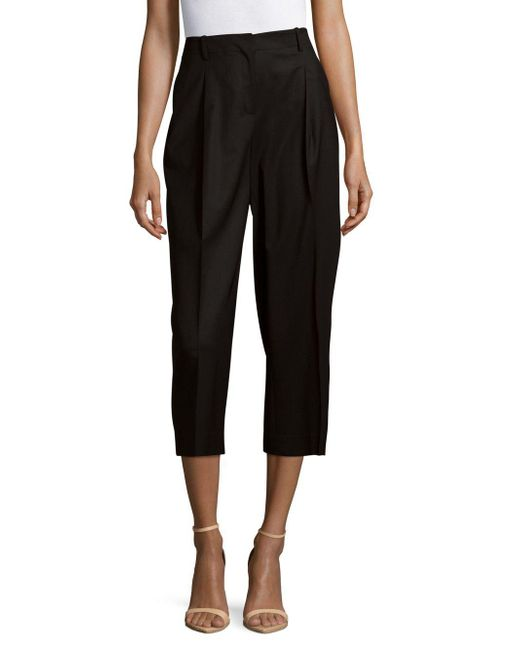 Lafayette 148 New York - Black Rivington Wide-leg Cropped Pants - Lyst