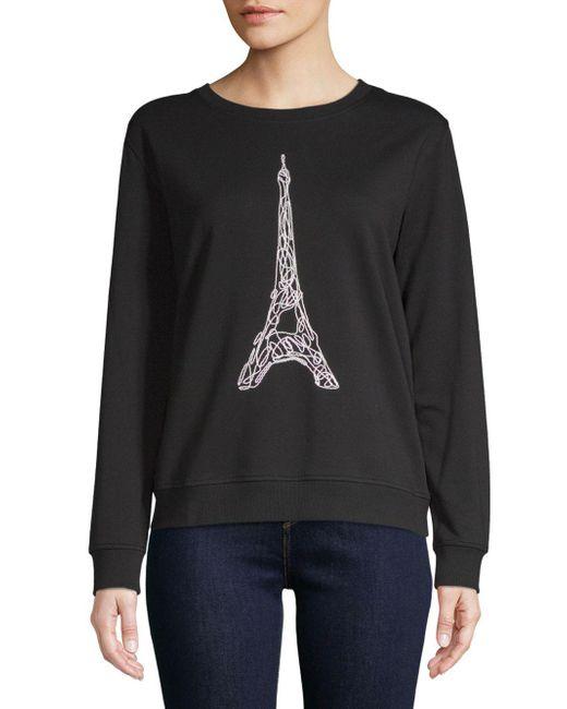 Karl Lagerfeld - Black Corded Eiffel Tower Sweater - Lyst