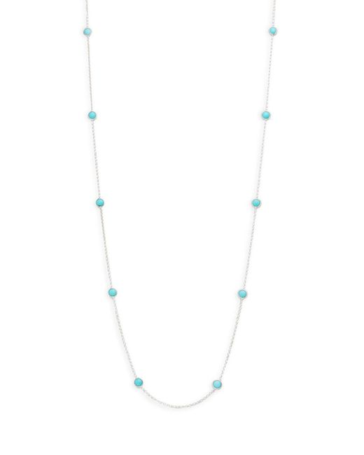 Ippolita - Metallic Rock Candy Turquoise And Sterling Silver Station Necklace - Lyst