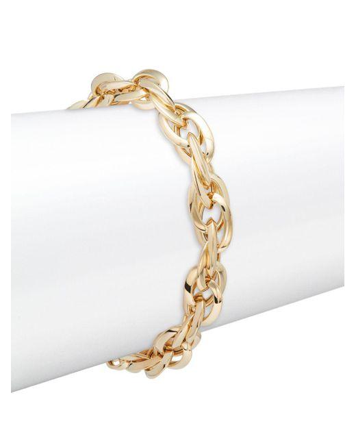 Saks Fifth Avenue - Metallic Made In Italy 14k Yellow Gold Twist Bracelet - Lyst