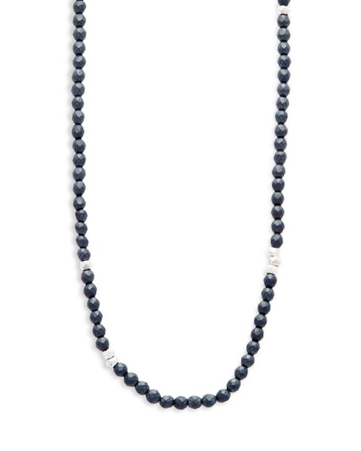 Saks Fifth Avenue - Black Beaded Single Strand Necklace - Lyst