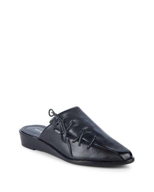 Kelsi Dagger Brooklyn - Black Lace-up Leather Mules - Lyst