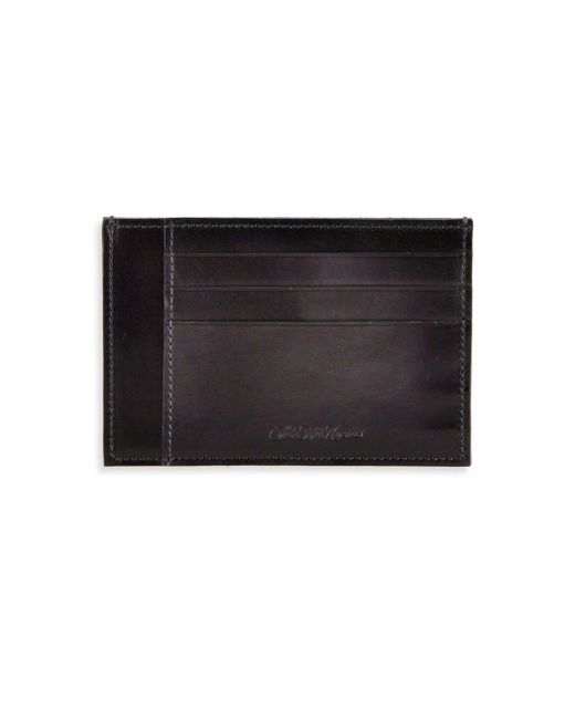 Saks Fifth Avenue Gray Collection Burnished Leather Card Case for men